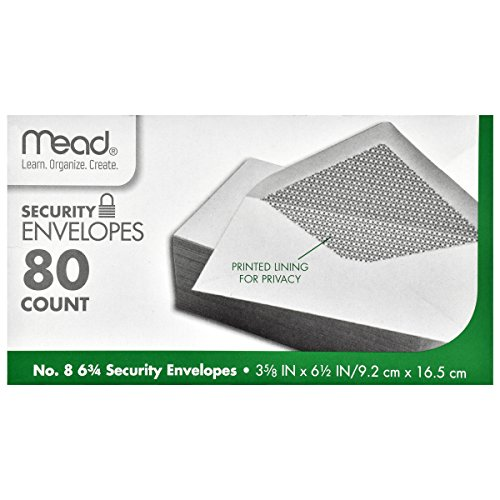 Price comparison product image Mead #8 6 3/4 Security Envelopes 80 ct