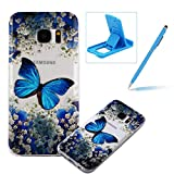 TPU Case for Samsung Galaxy S7,Clear Case for Samsung Galaxy S7,Herzzer Ultra Slim Stylish [Colorful Pattern] Soft Silicone Gel Bumper Cover Flexible Crystal Transparent Skin Protective Case