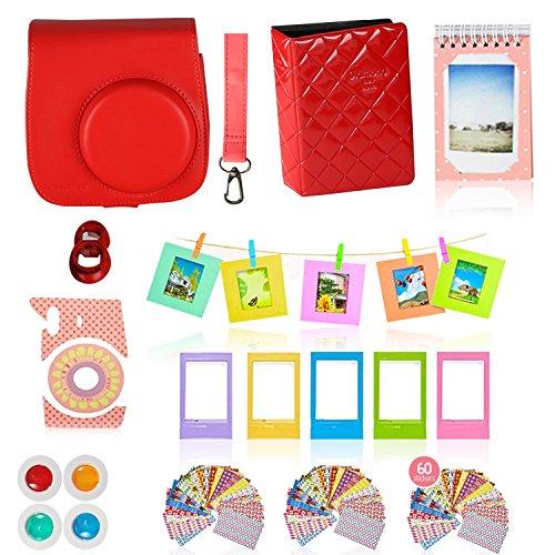 Fujifilm Instax Mini 9 or Mini 8 Instant Camera Accessories Bundle. RASPBERRY 11 Piece Gift Box Fuji...
