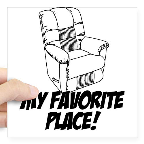 CafePress Recliner Square Sticker Square Bumper Sticker Car Decal, 3
