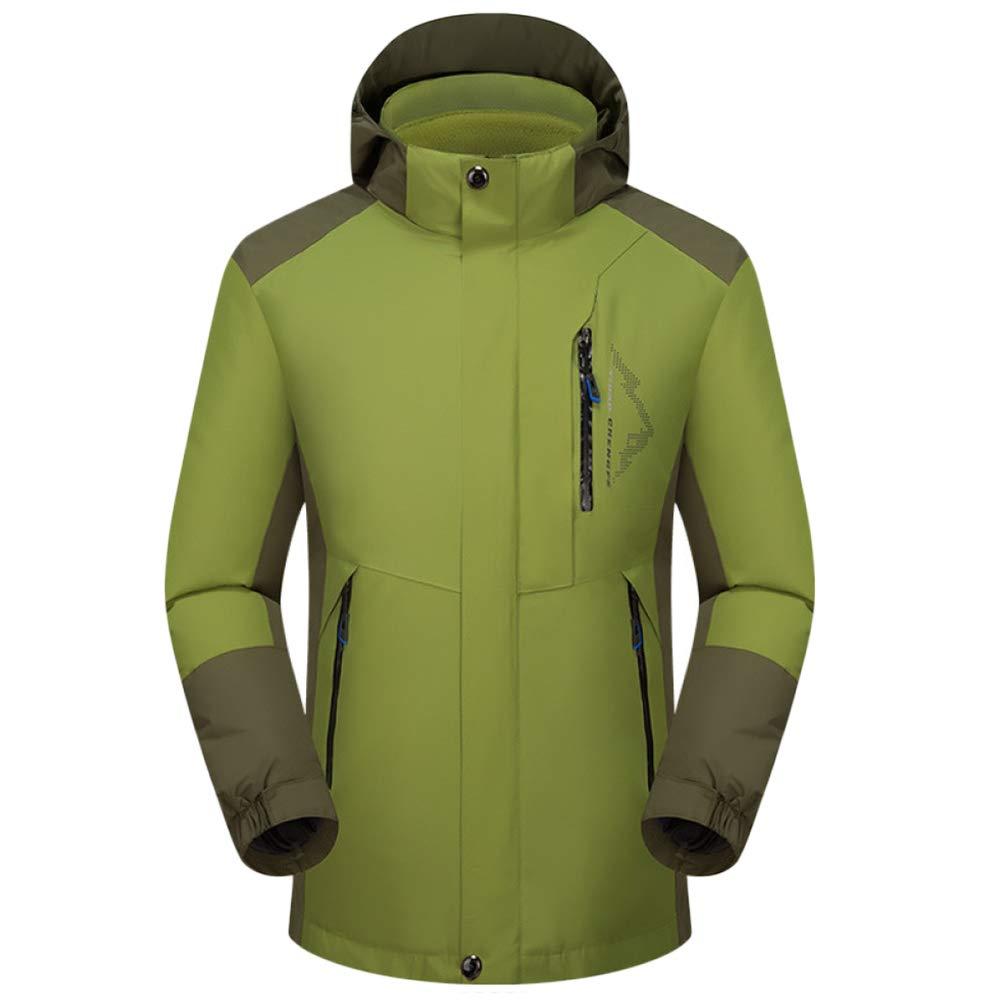 GBRALX Herren 3-in-1Jacket wasserdicht winddicht abnehmbare Bergjacke Softshell funktionelle warme Klettern Wandern Angeln Ski Outdoor Camping Mantel