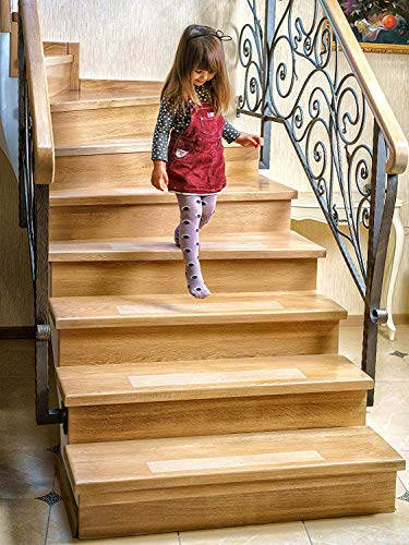 - Kenley Non-Slip Stair Treads - 15 Pack Clear Step Strips 4
