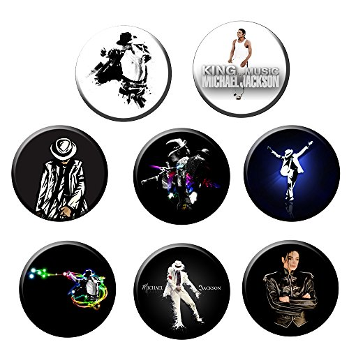 Michael Jackson #5 :Pinback Buttons Round Badges 2.25 Inch (Set of ()