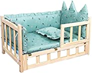 Pet Bed Dog Bed Elevated Wooden Pet Bed, Wooden Kennel Solid Wood, Cat Bed