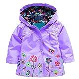 Arshiner Girl Baby Kid Waterproof Hooded Coat Jacket Outwear Raincoat Hoodies 2-9 Y