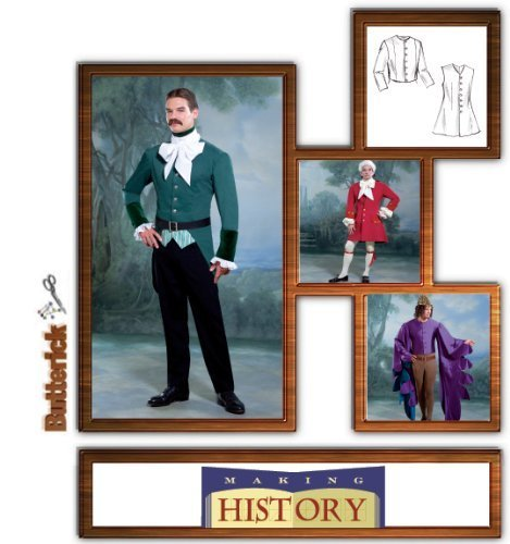 [Butterick 4155 sewing pattern makes Men's Historic Costume Jackets and Vests] (Butterick Mens Costume Patterns)