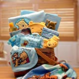 Winnie The Pooh Blue New Baby Gift Basket