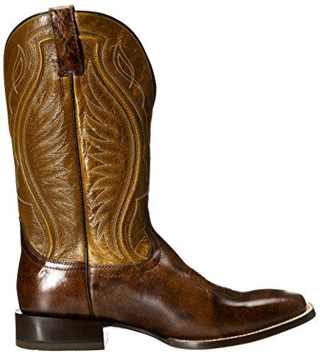 ... Ariat Mens Hookin Horn Western Cowboy Boot Forvitret Skinn / Gylden  Brunfarge