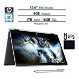 HP 2019 Premium Flagship Pavilion X360 2 in 1 15.6' Micro-Edge Touchscreen FHD Laptop, Intel i3-8130U, 8GB RAM, 1TB HHD,...