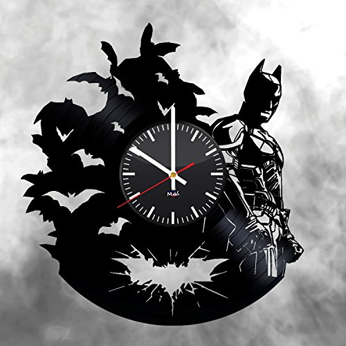 Batman Emblem Vinyl Record Wall Clock Gift For