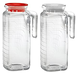 Bormioli Rocco Gelo Glass Jug 2 Piece Set with Red and White Lid (B00K1N3GXO) | Amazon price tracker / tracking, Amazon price history charts, Amazon price watches, Amazon price drop alerts