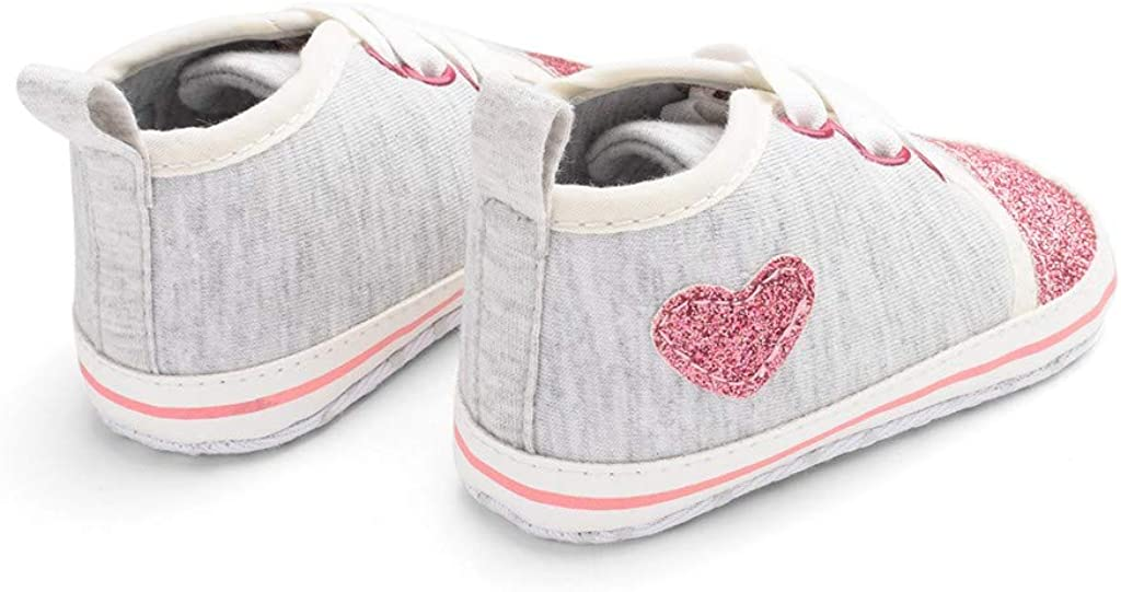 ❤️Rolayllove❤️ Baby Girls Boys Sneaker Canvas Shoes Star High Top Sneaker Newborn Infant First Walkers Shoes