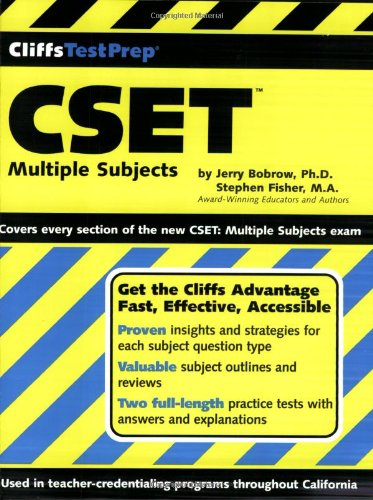 CSET: Multiple Subjects (Cliffs Test Prep)