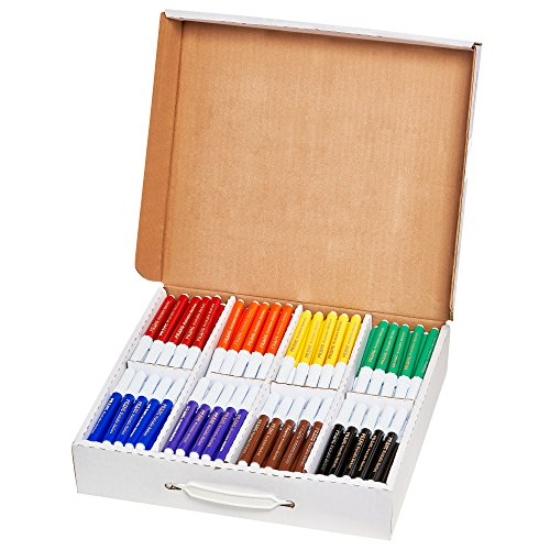 Prang Washable Art Markers, Bullet Tip, 8 Assorted Colors, 200 Count (80613) by Prang