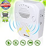 eHouse Ultrasonic Pest Repeller Plug in, Electronic Repellent - Repel Rodents, Mice, Rats, Mosquitoes, Roaches, Spiders And Other Bugs & insects + features USB port Power For Outdoor Use