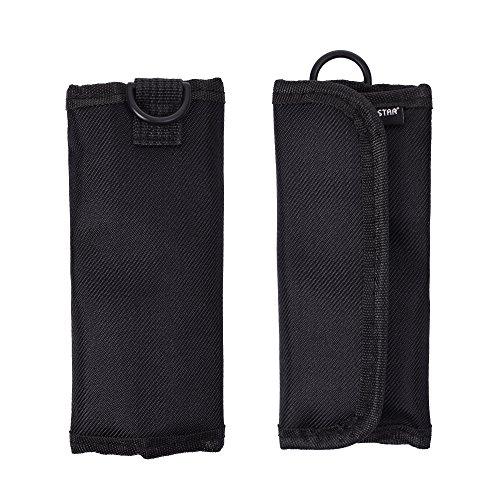 Case Star ® Black Color Nylon Velcor 4 Slot Mesh Pocket