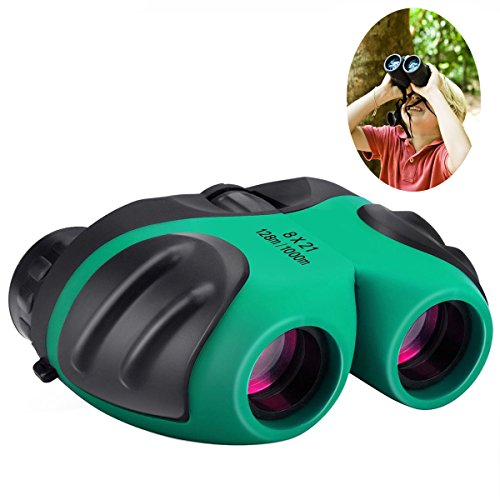 Gifts for 3-12 Years Old Boys, Best- Sun Compact 8x21 Shock Proof Binoculars for Bird Watching Kids Telescope for Teens Toys for 3-12 Years Old Boys (Green) (Best Toy For 12 Year Old Boy)