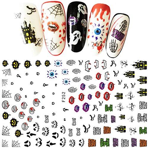 Nail Sticker - Halloween Nail Decals Nail Art Decoration Horror Design -