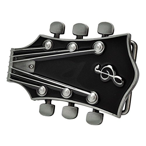 Buckle Rage Adult Unisex Guitar Music Headstock Musician Base Belt Buckle Black