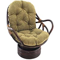 International Caravan 3310-JCH-9-IC Furniture Piece Rattan Swivel Rocker with Cushion