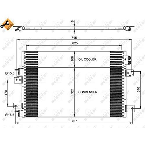 NRF 350031 Condenser, air conditioning
