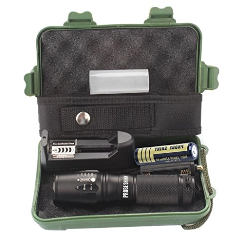 Flashlight Set X800 Zoomable XML T6 LED Tactical Police for sale  Delivered anywhere in Canada
