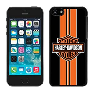 Personalized Custom Picture iPhone 5C,Harley Davidson logo 14 Black iPhone 5C Custom Picture Phone Case