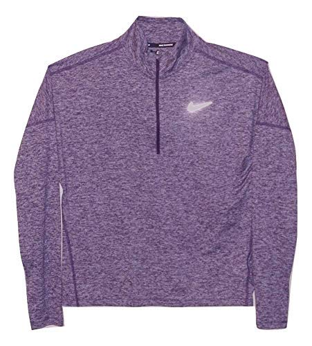 Nike Womens Dry Element 1/2 Zip Running Top (Purple Heather, X-Small) by Nike