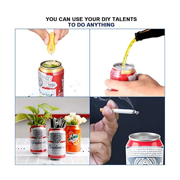 WELTPACKEN 2PCS Go Swing Topless Can Opener Bar Tool Professional Effortless Openers for Household Kitchen Remove Top Tool Drinks Corkscrew,Rip and Sip Can Opener Smooth Edge Manual