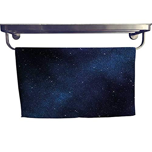 Night Customized Bath Towel Combination Space with Billion Stars Inspiring View Nebula Galaxy Cosmos Infinite Universe Fancy Hand Towels Set W 8