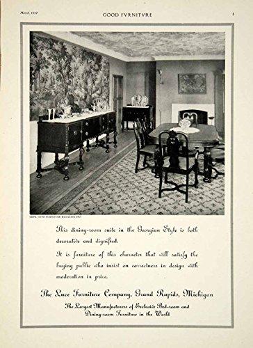 1917 Ad Vintage Luce Furniture Georgian Dinning Room Table Chairs Sideboard GF5 – Original ...