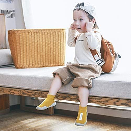子供の幼児の男の子の女の子の固体手紙のスリップ防止編まれた暖かいソックス