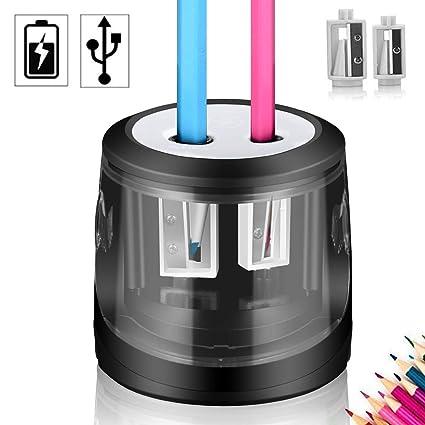 Elektrischer Anspitzer Bleistiftspitzer elektrisch für Nr 2 Stifte Buntstifte