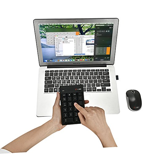 I Focus MCSaite Wireless Numeric Keypad & Mouse Combo - Use One receiver Wireless Number Pad Keyboard and Mouse for Laptop Desktop MAC by I Focus (Image #4)