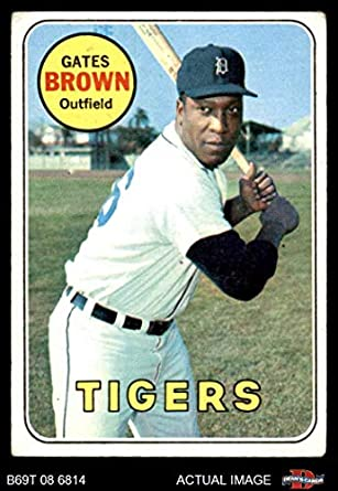 Amazoncom 1969 Topps 256 Gates Brown Detroit Tigers Baseball