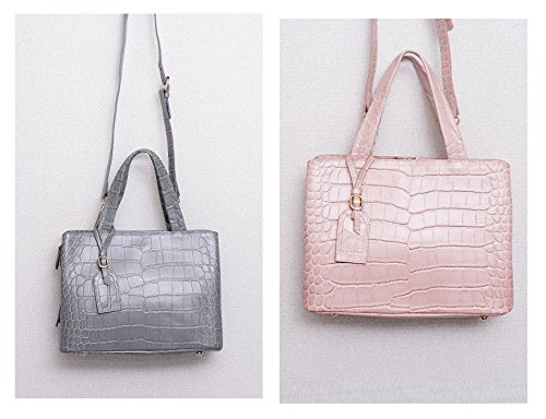 Bellina Wani Tote Shoulder Bag BB1218 (Pink) by Pristine&BB (Image #1)