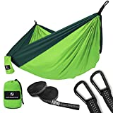 Automotive : SONGMICS Ultra-Lightweight & Portable Hammock Hold up to 660LB Single & Double Parachute Nylon Camping Hammock Swing Bed 118'' x 78'' for Outdoor Backpacking, Hiking, Yard, Traveling UGDC20GN