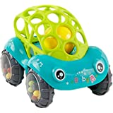 MonLiya Soft Rattle Car 12 Months Baby 0-1-3 Hand Grasping Ball toys Hand Jingle Shaking Bell Car (Green)