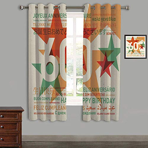 LIFEDZYLJHJY Printed Kids Curtains,Polyester Curtains Panels for Bedroom,Living Room,58