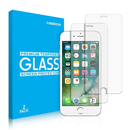 iPhone 6S 6 Screen Protector Glass, Cardking Tempered Glass Screen Protector for Apple iPhone 6S, iPhone 6 [4.7inch][Double Strength] (2-Pack)