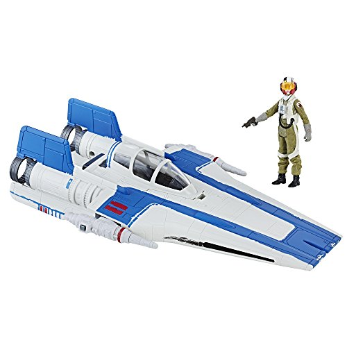 Star Wars Force Resistance A-Wing Fighter and Resistance Pilot Tallie Figure ()