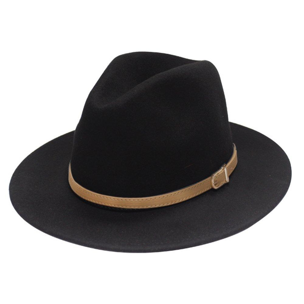 City Hunter Pmw90 Belt Wool Felt Fedora Hat 3 Colors