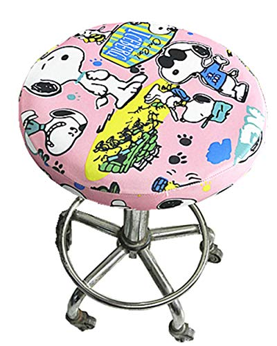 """Seiyue Soft Bar Stool Cover Elastic Round Cushion Slipcover Chair Seat Cover Protectors (Only Cover,No Stool) (14, 12""""(30cm))"""