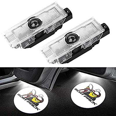 CHANONE LED Car Door Logo Dodge Challenger Projector Ghost Shadow Courtesy Light Welcome Light for Dodge Challenger Scat Pack RT SRT SXT GT SE (2 Pack): Automotive