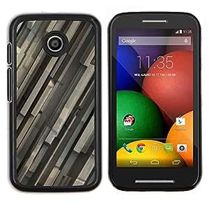 Be-Star Único Patrón Plástico Duro Fundas Cover Cubre Hard Case Cover Para Motorola Moto E / XT1021 / XT1022 ( Motif gris )