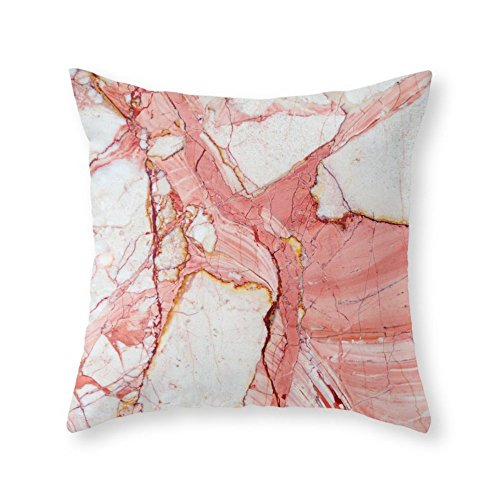 Society6 Pink Marble Throw Pillow Indoor Cover