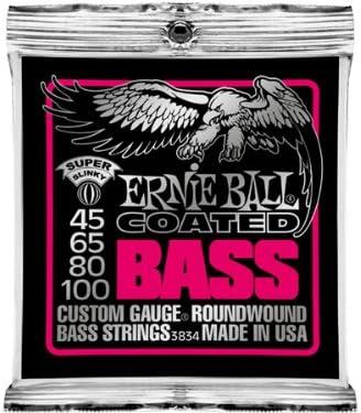ERNIE BALL #3834×5SET☆Coated Super Slinky Bass アーニーボールベース弦