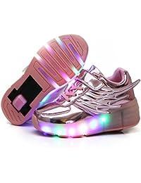 Roller Shoes Girls Roller Skate Shoes Boys Kids LED Light...