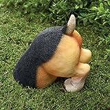 Cute dog doggy puppy Beagle digging in yard garden lawn decor statue sculpture
