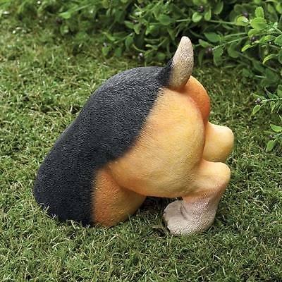 Cute dog doggy puppy Beagle digging in yard garden lawn decor statue sculpture (Beagle Garden)